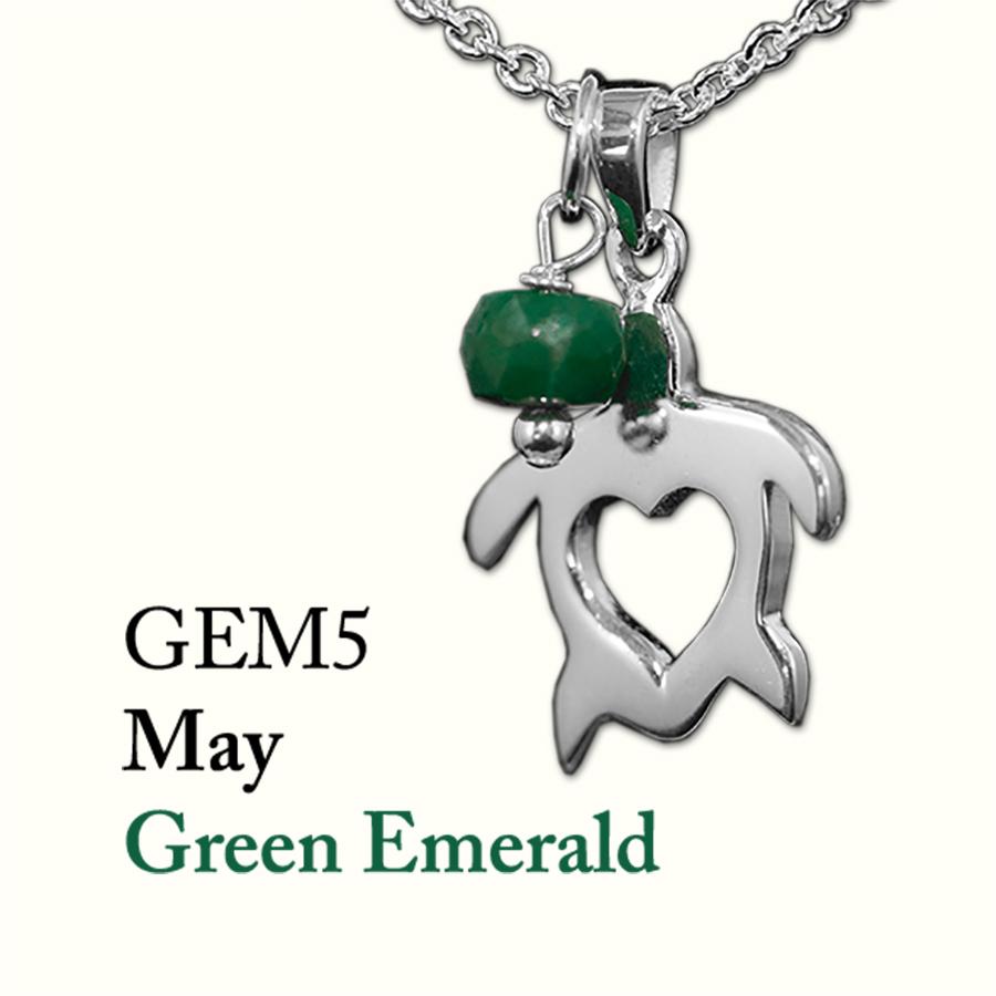 May Green Emerald Gem Drop