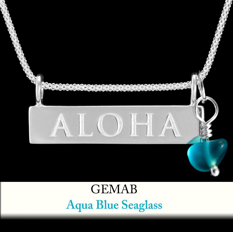 Aqua Blue Seaglass Gem Enhancer