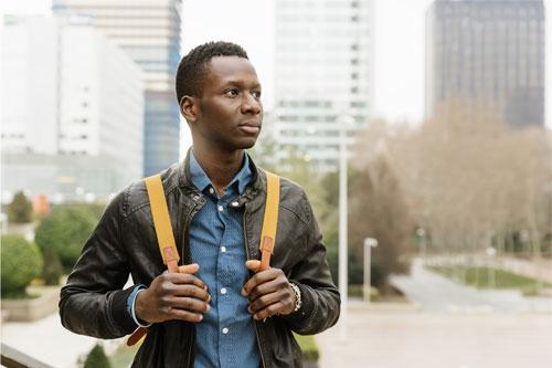 Student Intern Exploring City