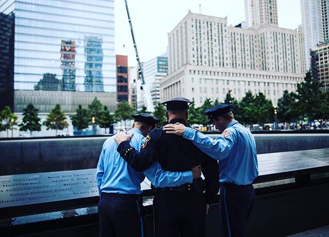 """We have never forgotten.  18 years from the date of the attack that changed our world, we've come back to remember the valor of those we lost—those who innocently went to work that day and the brave souls who went in after them. We have also come to be ever mindful of the courage of those who grieve for them, and the light that still lives in their hearts."""" —New York City mayor Rudolph Giuliani"""