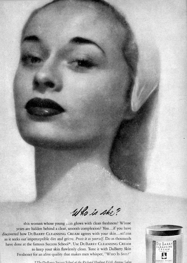 My mother, Millie Lewis, was a NY fashion model in the late 1940s. She was the face of Dubarry Cosmetics, the