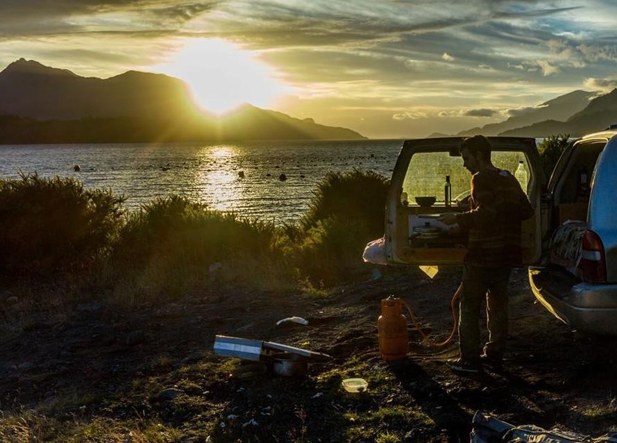 Sunset in Cochamó, Patagonia