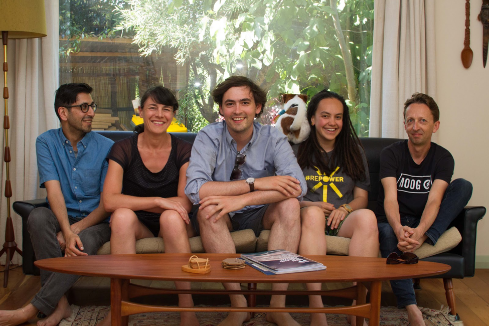 Our team: Vim, Marianne, Rick, (Franklin's butt), Laura and Eliot (not pictured, Ann & Silvia) - NEED THE ORIGINAL IMAGE