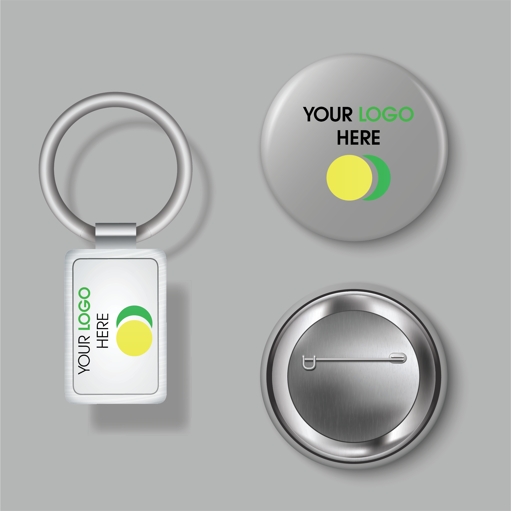 KEY CHAINS & BUTTONS