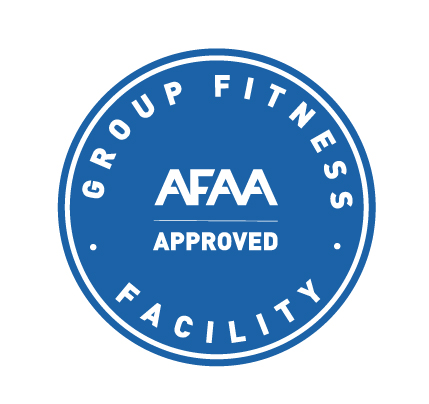 We are an AFAA approved group fitness facility.