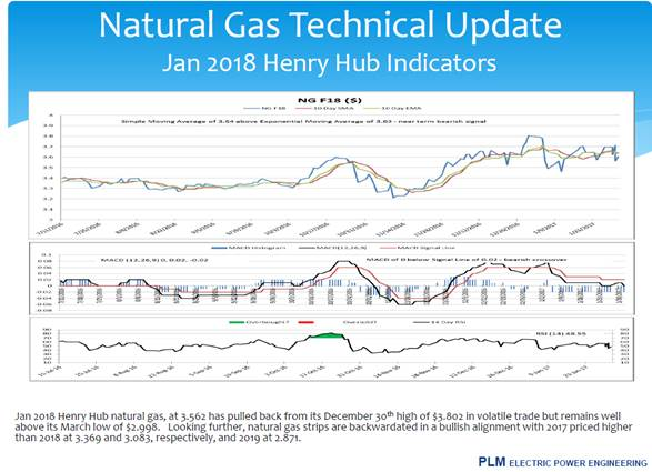 Energy Market Hedging Services - PLM provides daily technical analysis of enregy commodities including natural gas and wholesale electricity prices in New York and New England as part of a comprehensive program to hedge clients' exposure to risk associated with price swings in the energy markets.