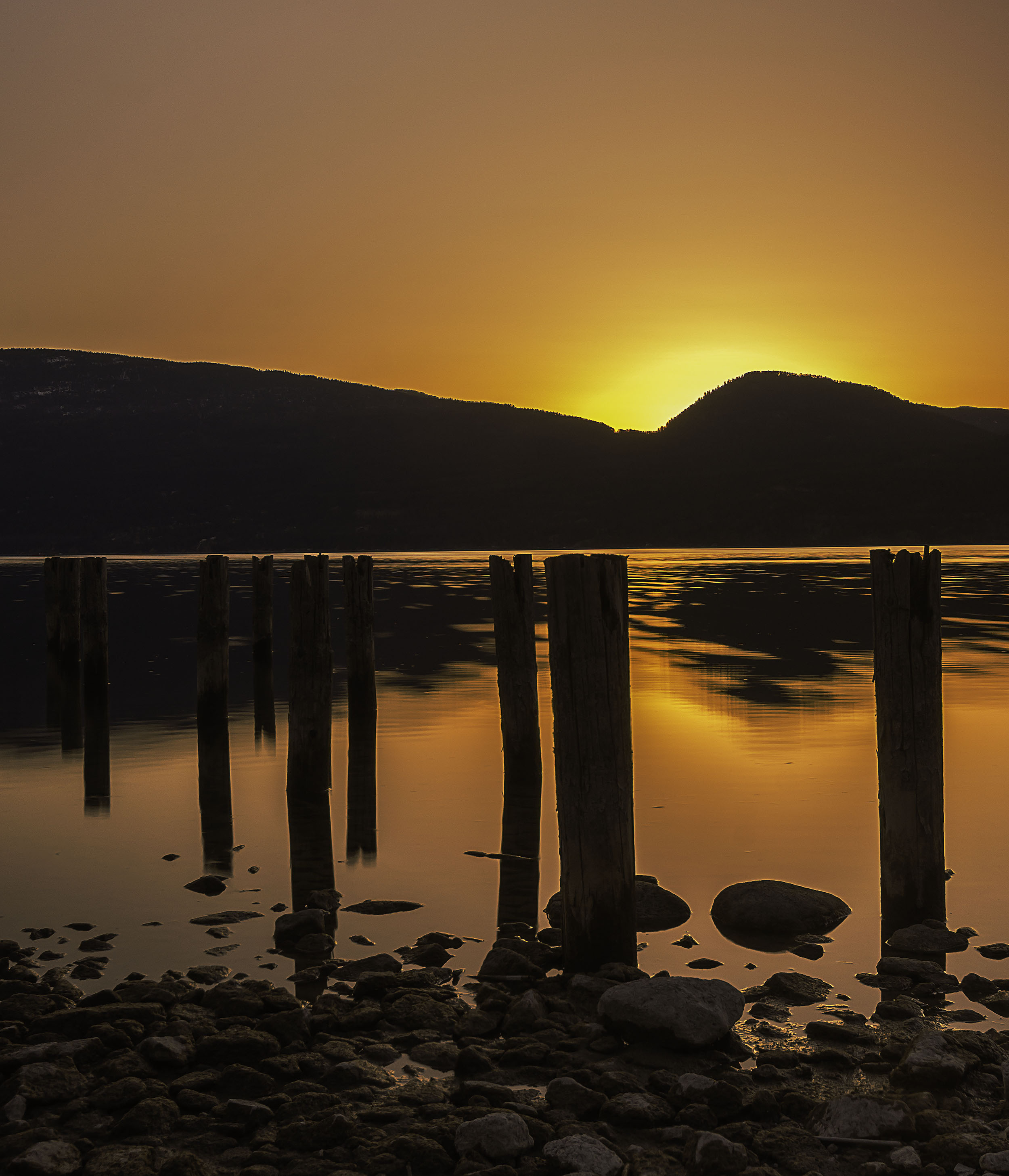Sunset over Okanagan Lake, BC, Canada