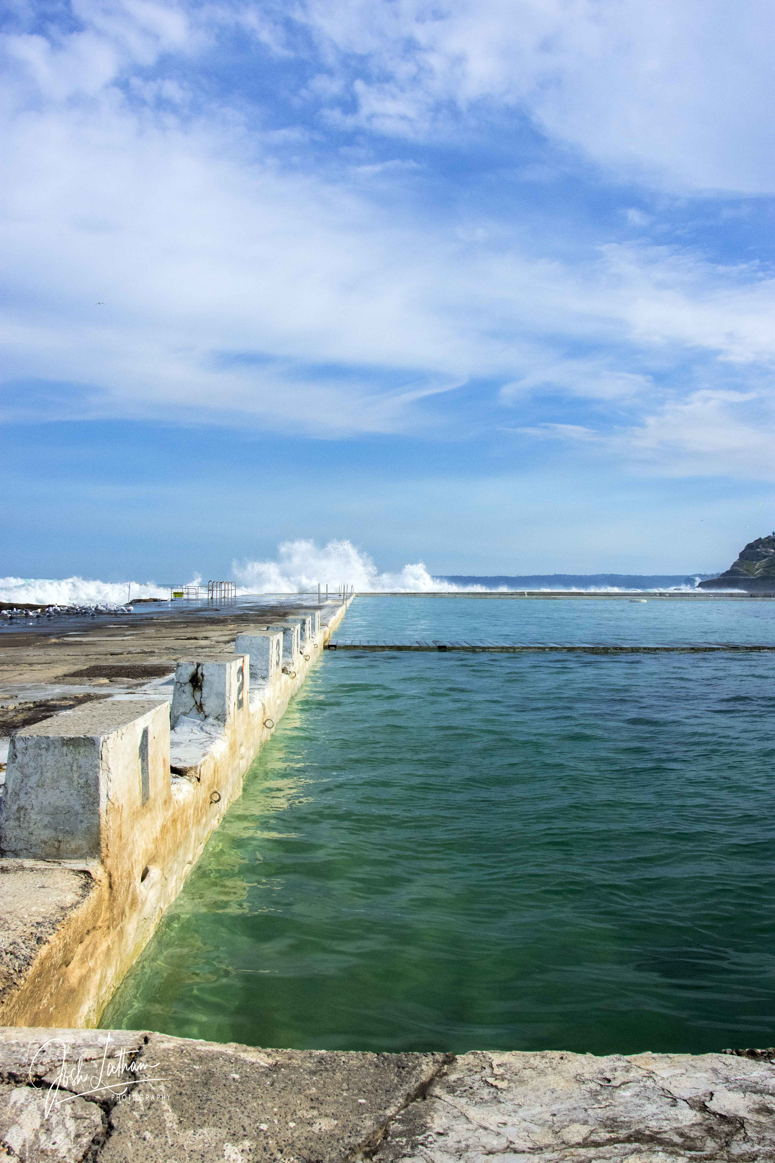 Ocean Baths at Newcastle, New South Wales, Australia