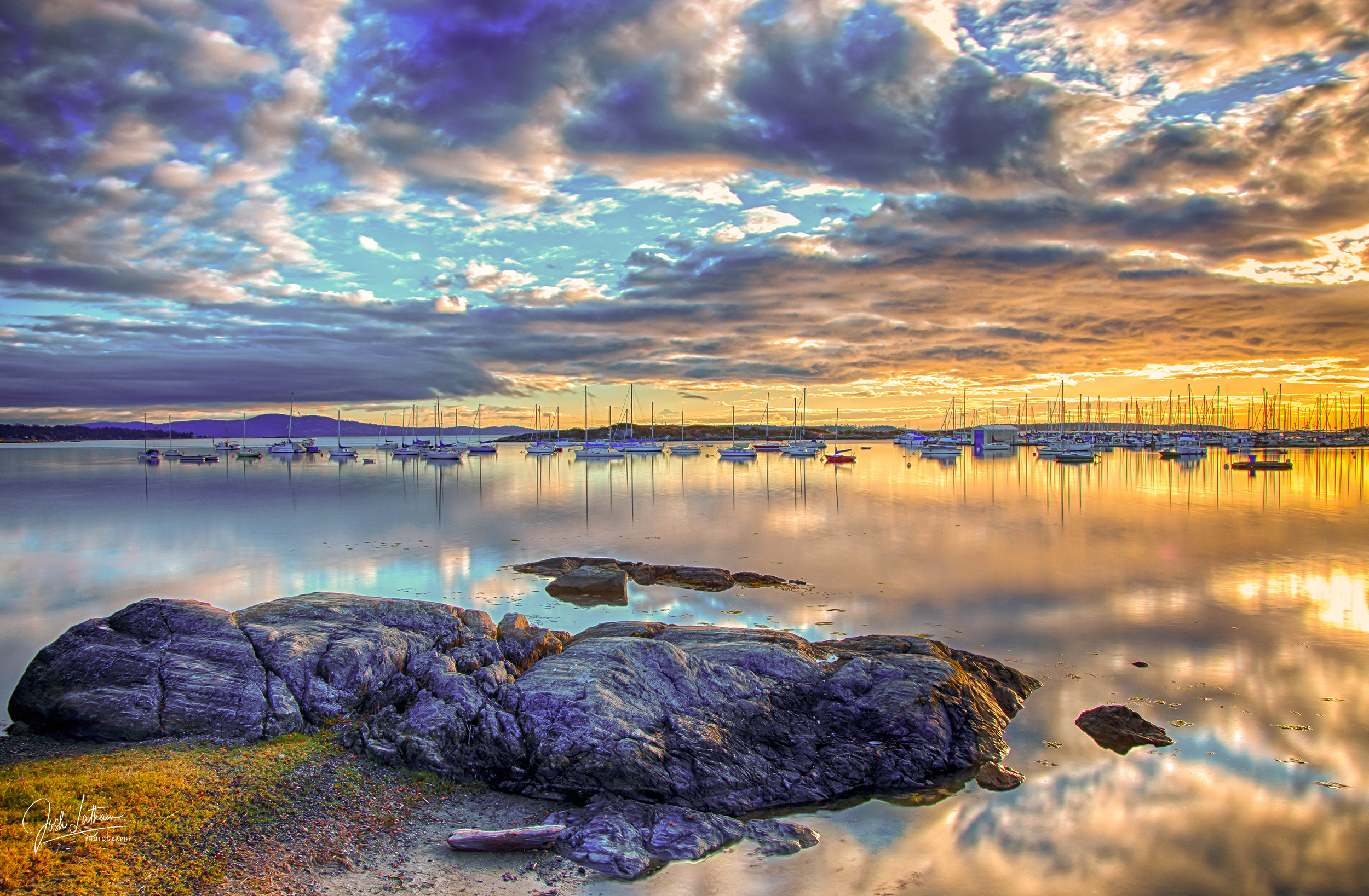 Sunrise at Oak Bay Marina, BC, Canada