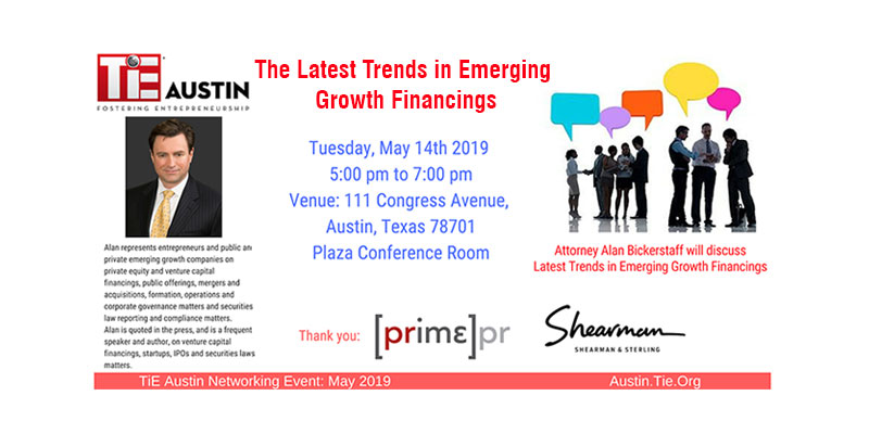 Networking Event-Latest Trends in Emerging Growth Financings