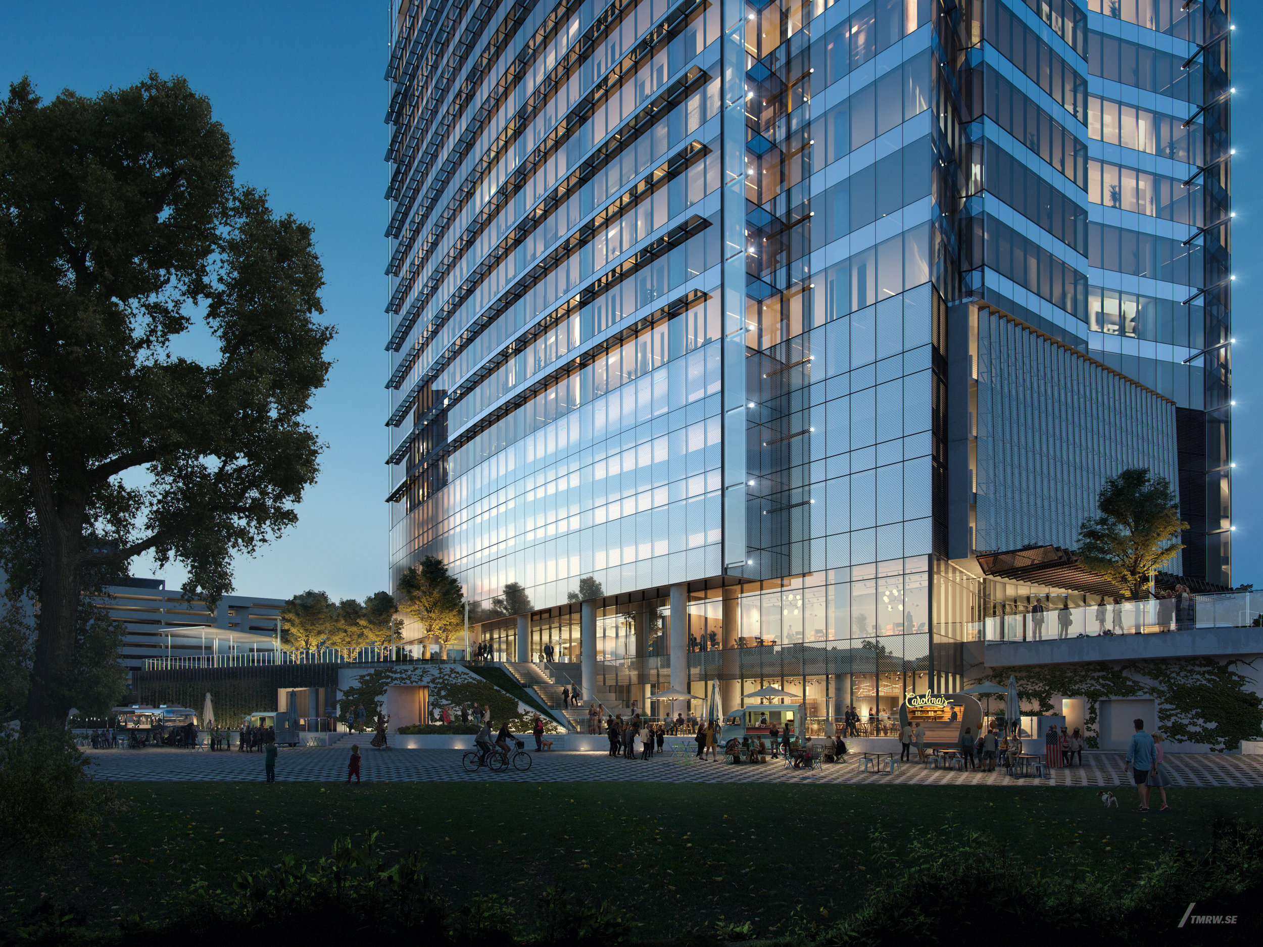 Photo rendering of the forthcoming office building on a site near the former University Medical Center Brackenridge
