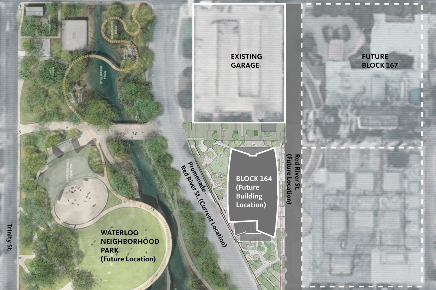 Map rendering of the forthcoming office building on a site near the former University Medical Center Brackenridge