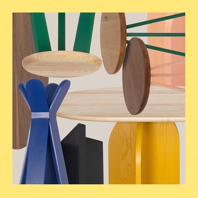 All the #interior goodies from @oliverapt . . .  #sidetables #wework #coworking #interiorinspo #solidwoodfurniture #commercialdesign