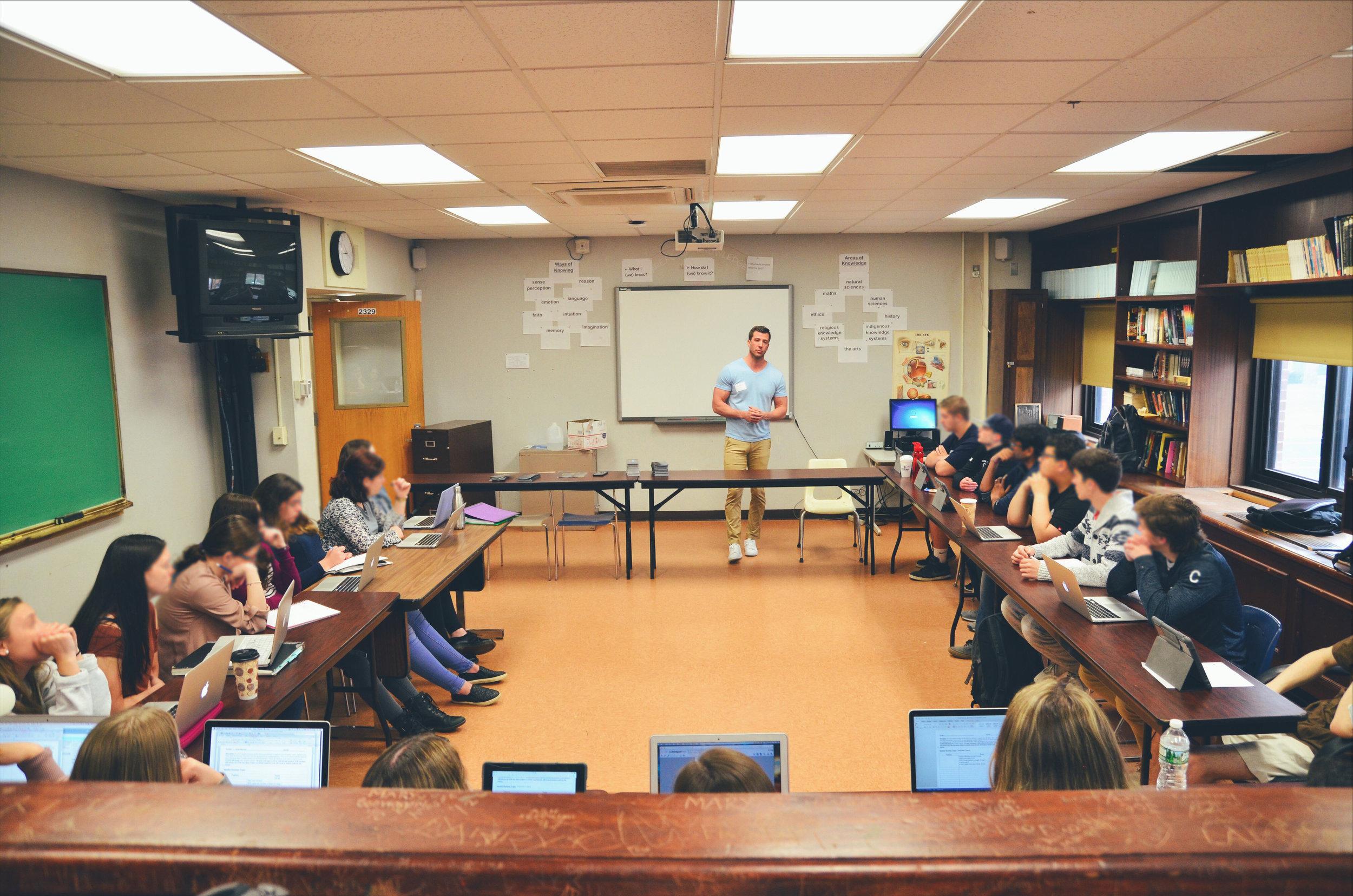 TC Survivor Brian Harrington brings the conversation into the schools.