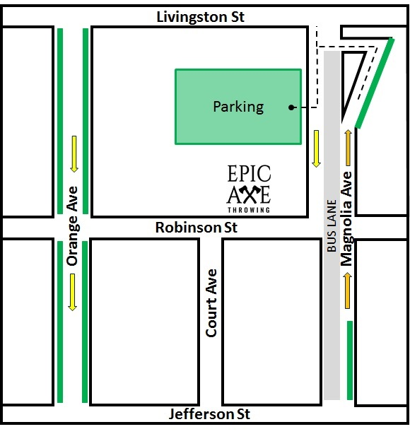 *Green indicates street on-street parking