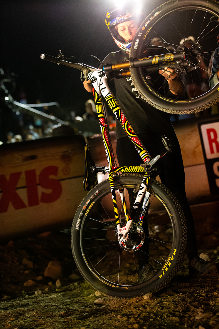I was stoked to be able to make it up to Crankworx to watch Jill race it in under the lights.