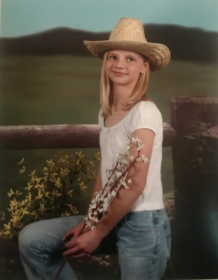 Andrea pictured at 12 years old before she escaped.