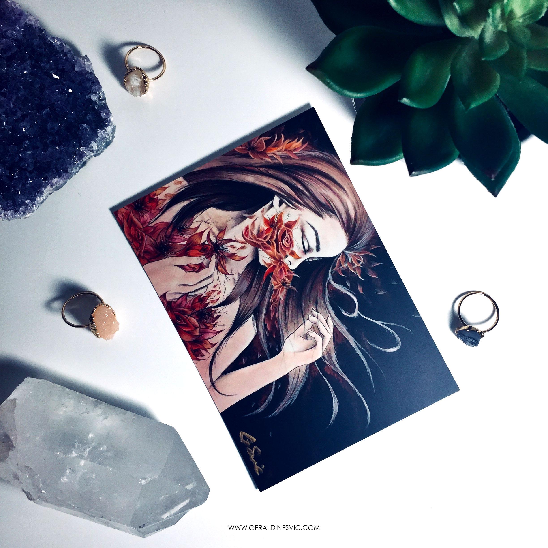 """Eradication of Terra Mater"" Signed Postcard"