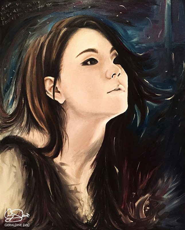 """Missing You  """"Missing You"""" acrylic painting by Geraldine Svic. Portrait of CL (Lee Chae-rin)."""