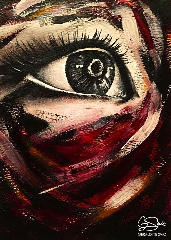 "Triptych: Eye Two  ""Triptych: Eye Two"" acrylic painting by Geraldine Svic."