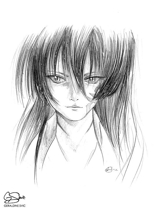 "Akame  ""Akame"" graphite drawing by Geraldine Svic."
