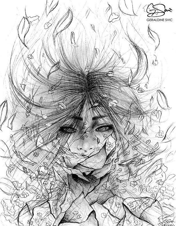 "Kintsukuroi  Sketch I  ""Kintsukuroi Sketch I"" graphite drawing by Geraldine Svic."