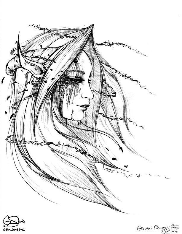 "Pollux  Sketch  ""Pollux Sketch"" graphite drawing by Geraldine Svic."