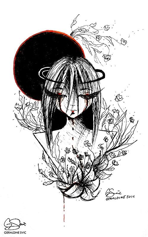 "Untitled II   ""Untitled II"" pen drawing by Geraldine Svic."
