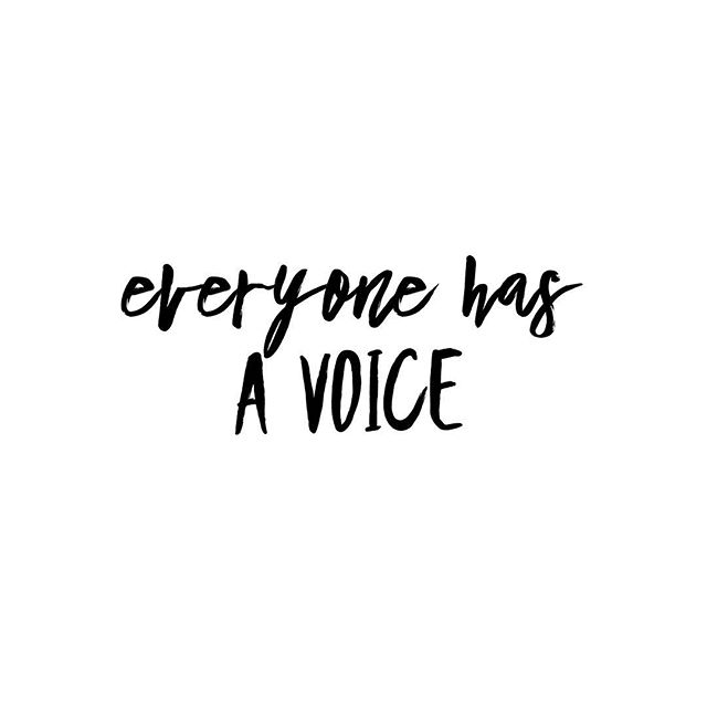 No matter how big or how small, everyone has a voice. . . . #empower #empire #queen