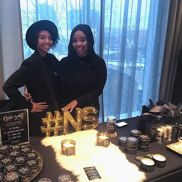 """At today's @ragtradeatlanta event, @nicescent.co sold their handmade candles with names like Piedmont and Cascade, it's clear that these """"Scent and the City"""" ladies are inspired by Atlanta...and the candles smell amazing! #SupportHER . (Swipe Left) . . . #empowerment #empower #marketplace #popup #popupshop #womenofcolor #female #femaleentrepreneur #entrepreneur"""