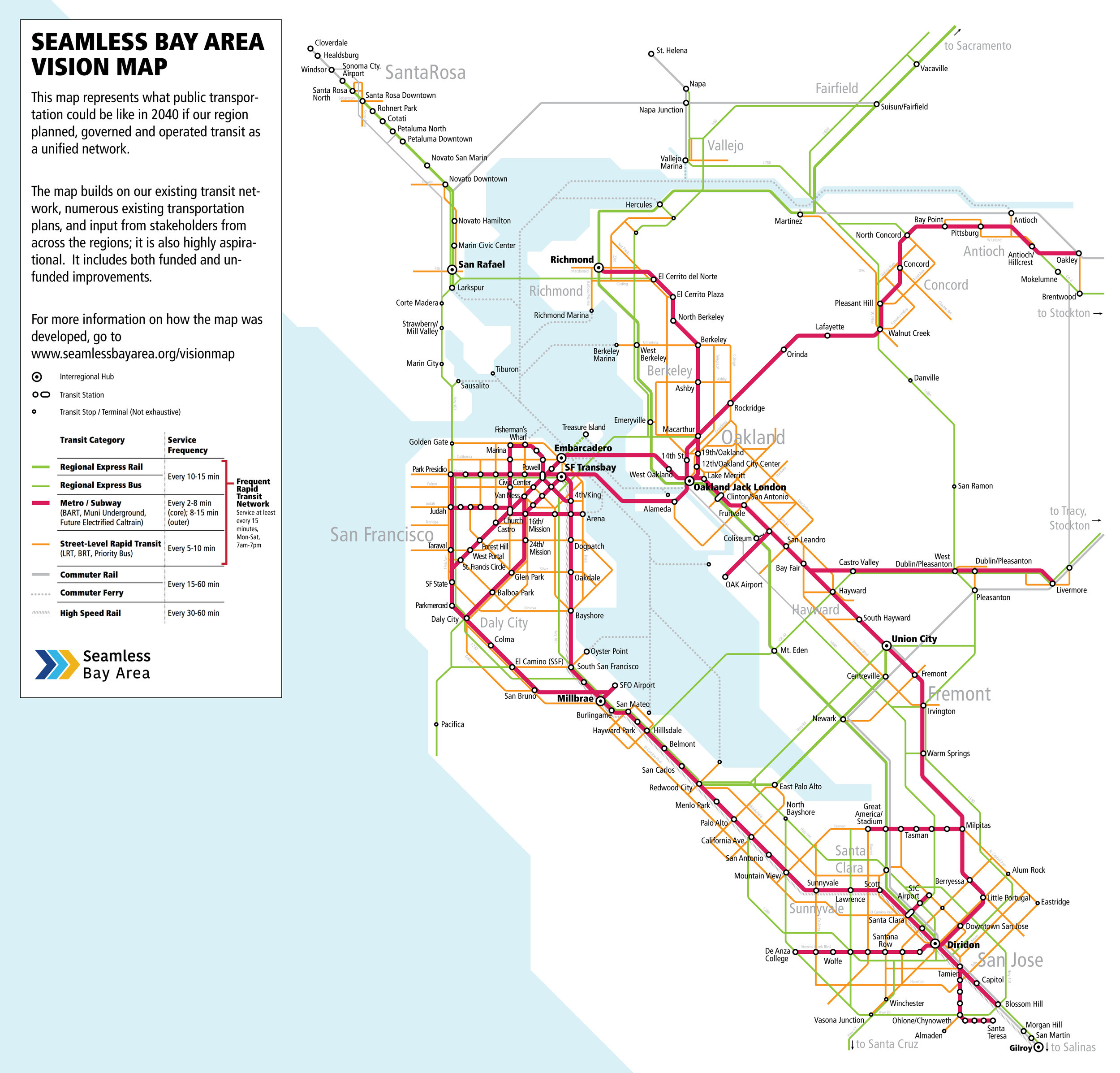 Vision Map Seamless Bay Area Your train journey would be an unforgettable adventure to traverse different cities, view various kinds of you can contact us to get more cities available with high speed trains, for the china train travel map below only offers a rough overview of cities connected by high speed train. vision map seamless bay area