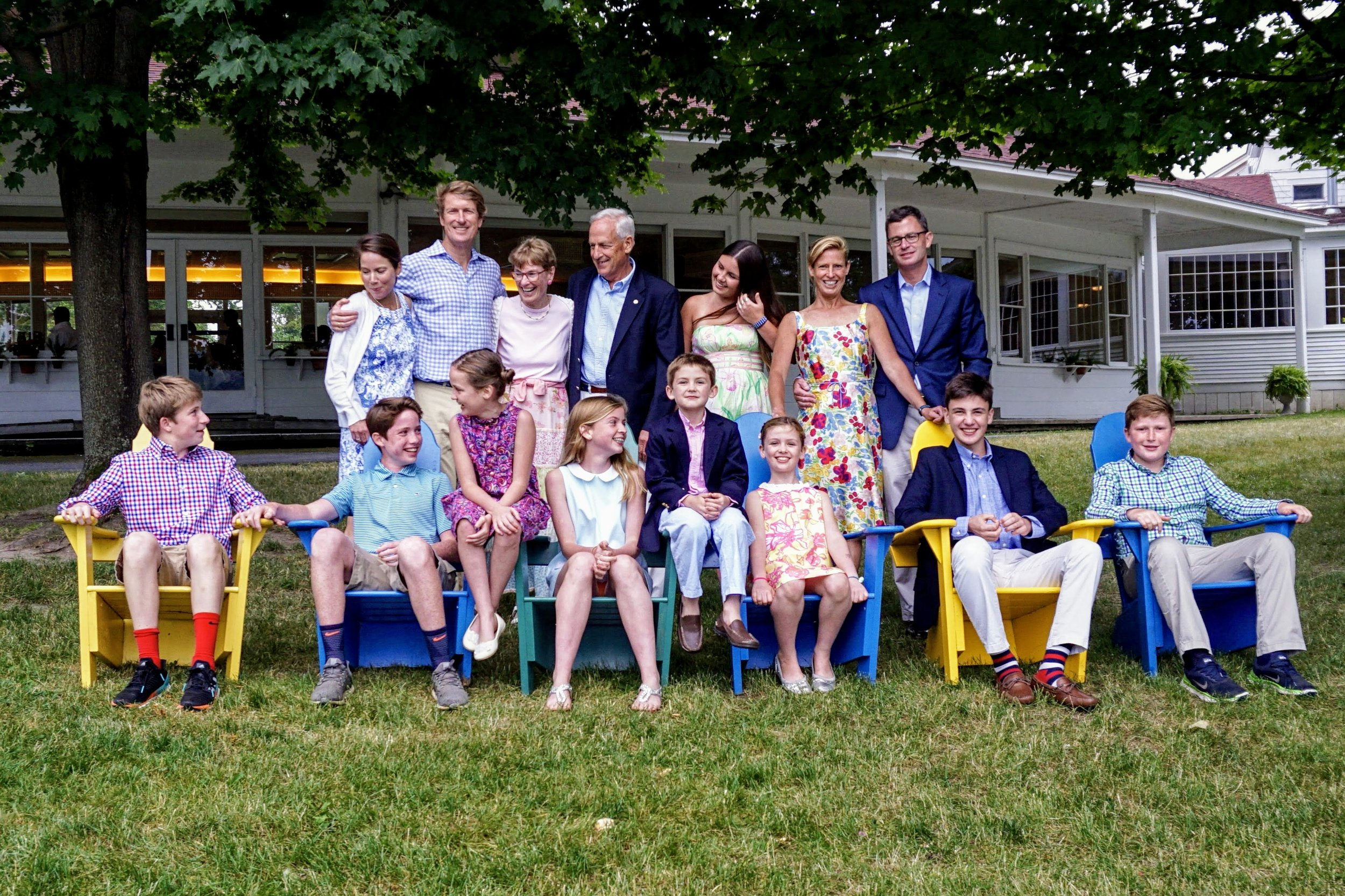 My parents, my sister and our families in Vermont, Summer 2018