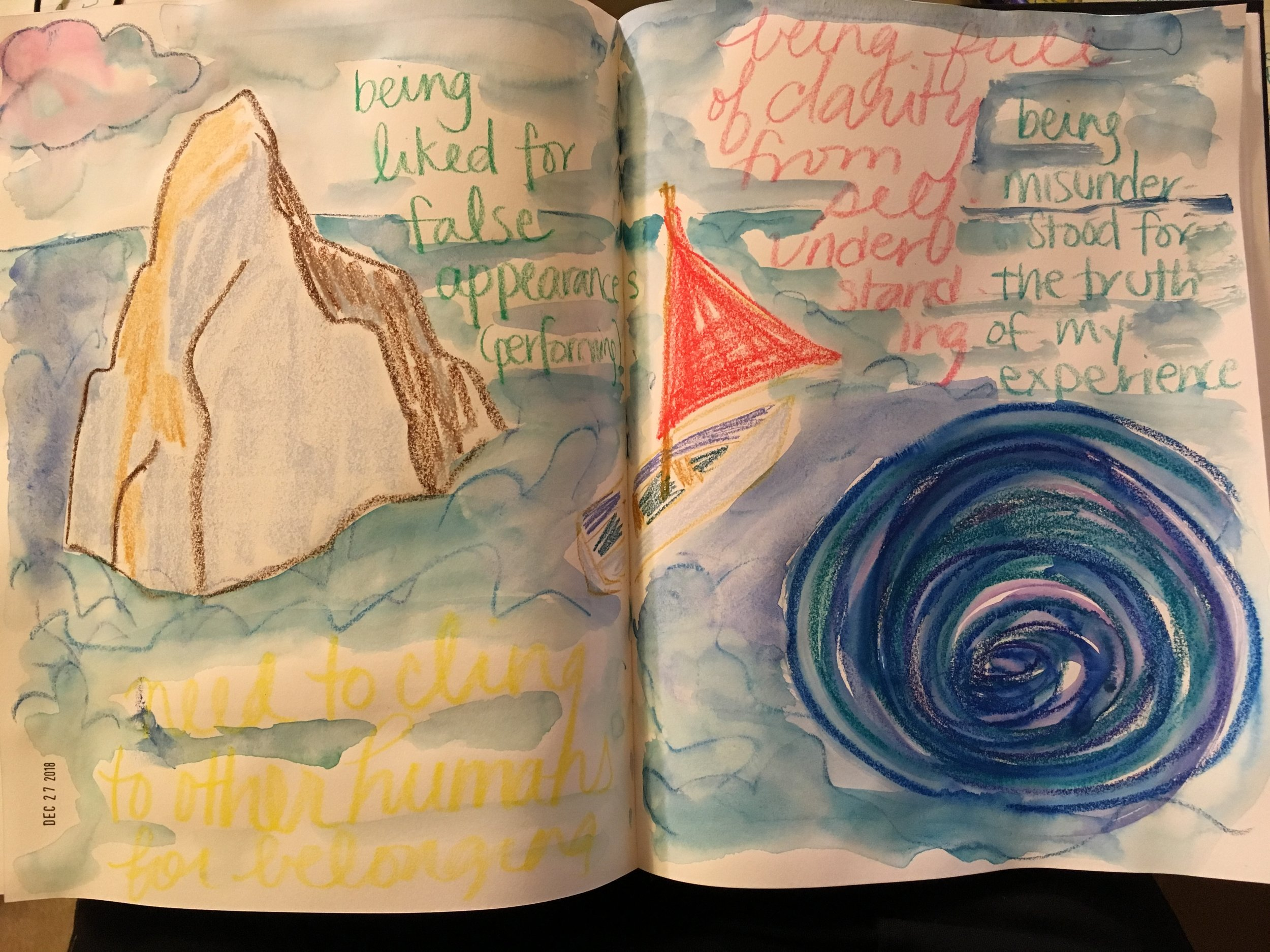 My sketchbook image of Scylla & Charybdis, mentioned later in this video and audio podcast.