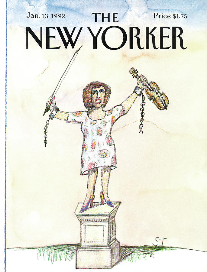 New Yorker cover illustration by Saul Steinberg