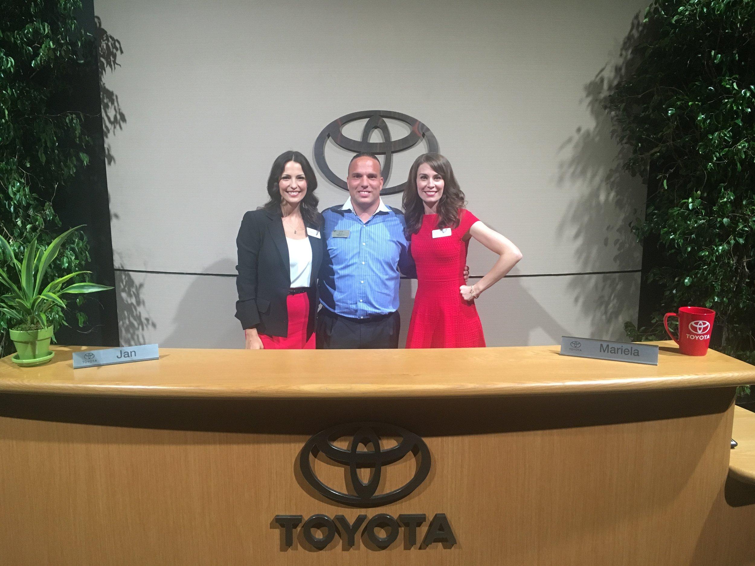 Louis Rylant with Jan Toyota Spokeswoman.JPG