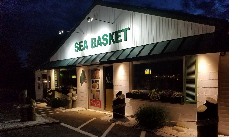 Sea Basket Restaurant Front at Night.jpg
