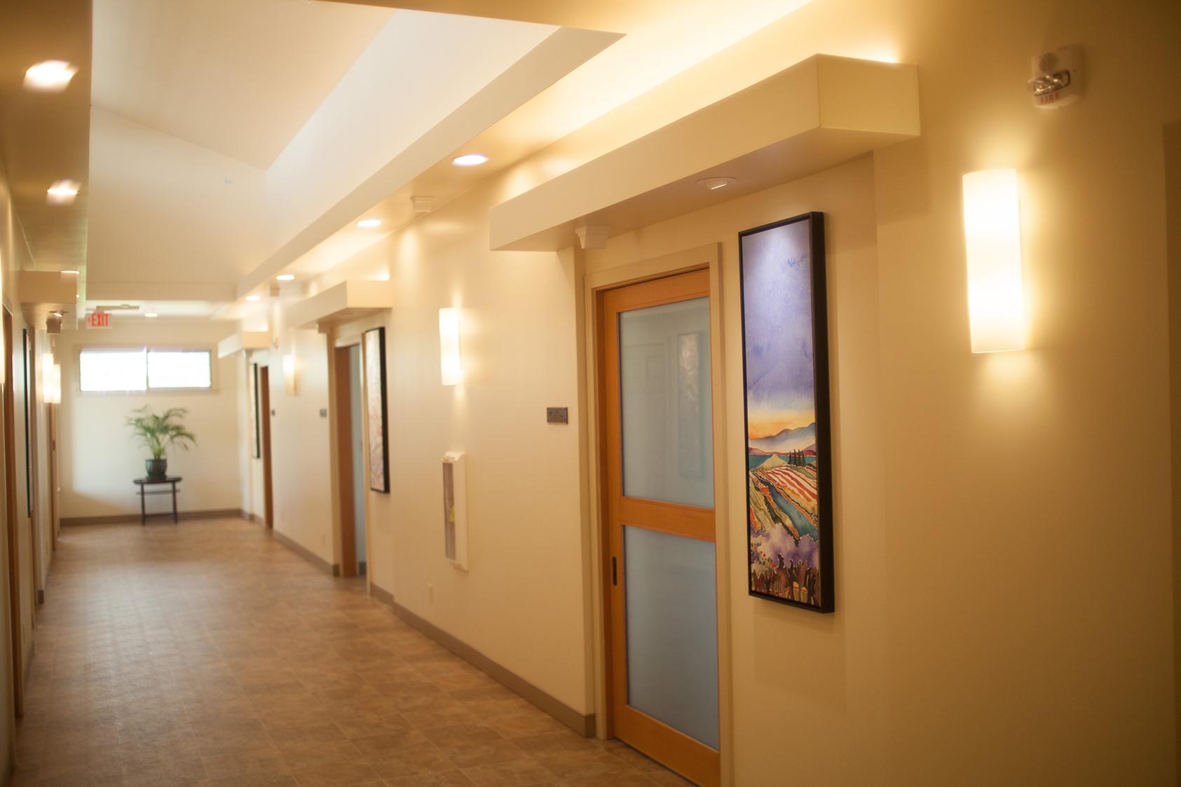 Hallway to Patient Rooms