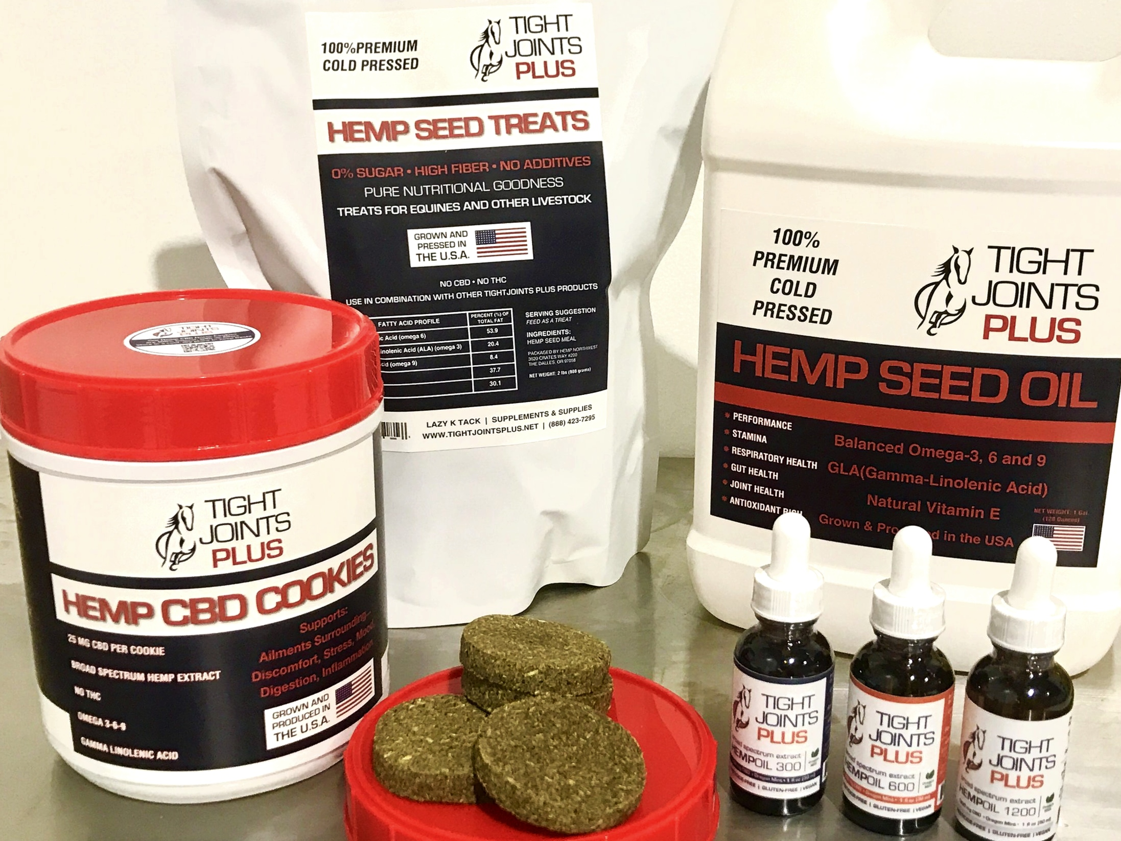 Equine Hemp Products by Tight Joints Plus, made by Hemp Northwest with Washington and Oregon grown hemp.