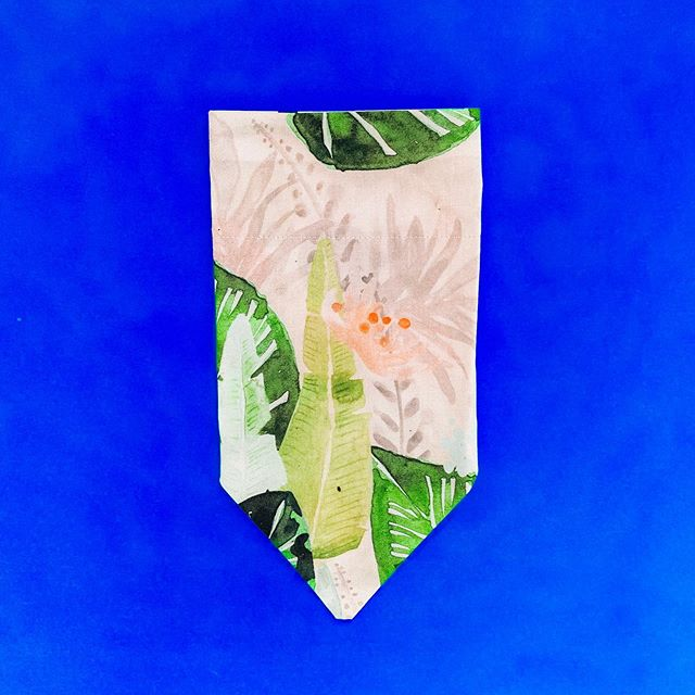 "Satisfying all our watercolour needs with the ""Pastel Leaves"" bandana 🌿 Each one handmade with love in our Adelaide studio 💞"