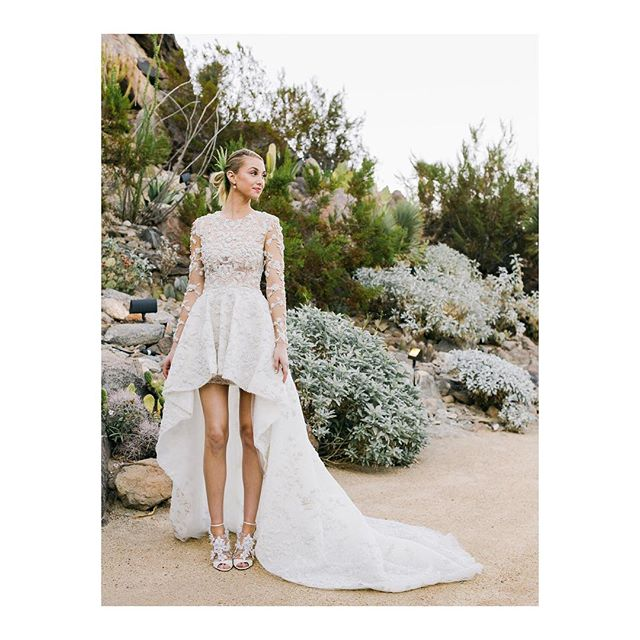| Usually not the biggest fan of dresses being shorter in the front. This creation for Whitney Port by @ashistudio though! | What do you think? | . . . . #bridalinspo #bridalwear #weddingdress #herazuerich #herazürich #inspiration #herabridal #zuerich #zurich #zürich #comingsoon