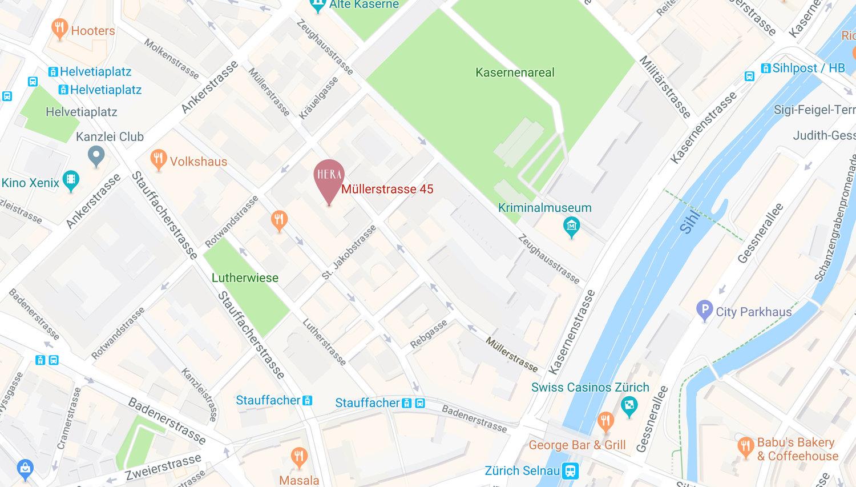 Hera Zürich Google Maps