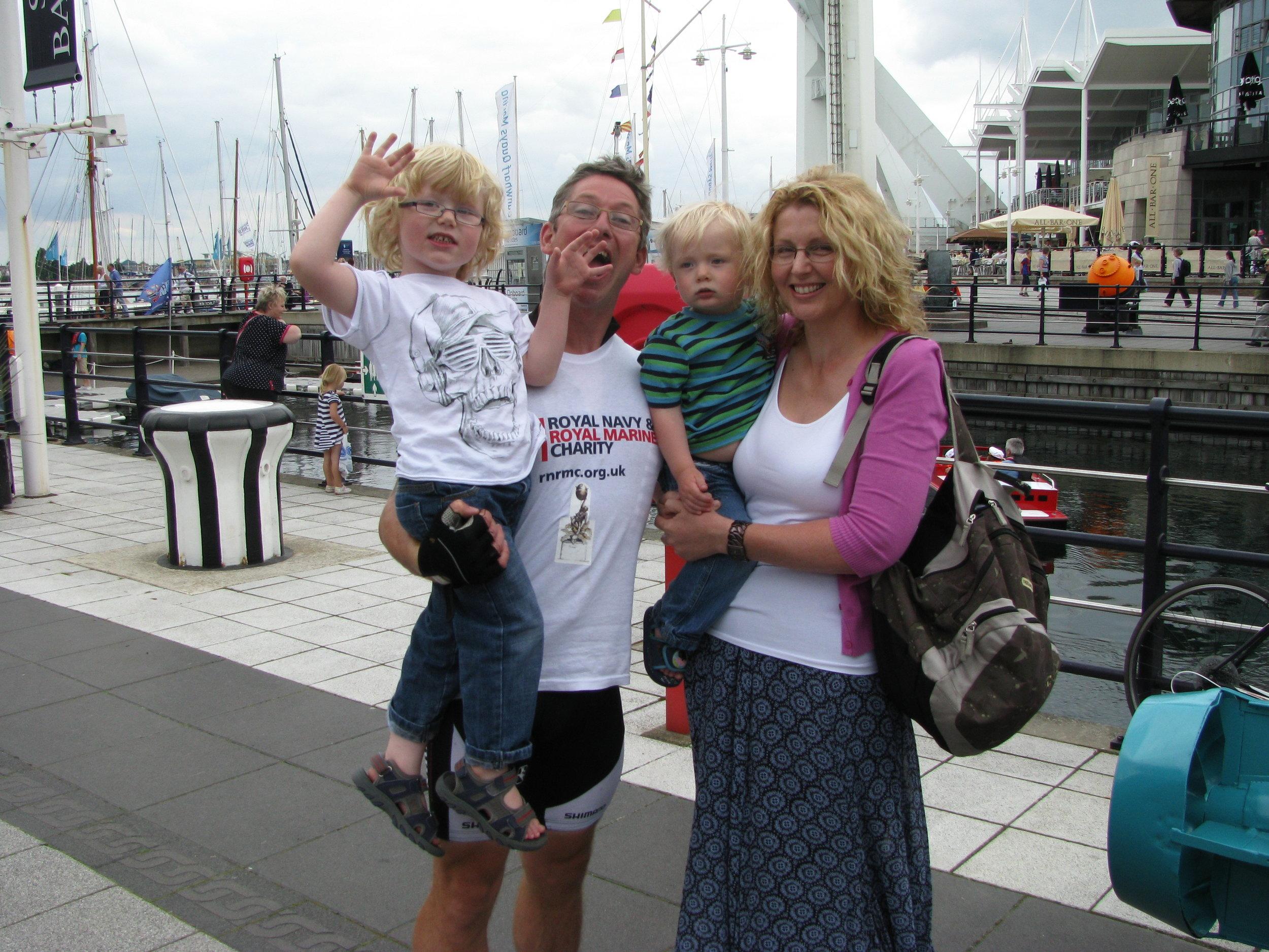 27 July 2011 MW Charity Riders arrive at Gunwharf Quays 017.jpg