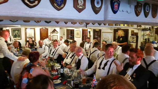 Pinta Beer dining out on board HMS VICTORY.jpg