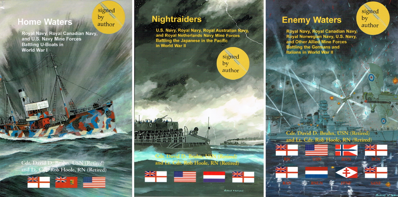 Newly published trilogy covering minewarfare operations during the First & Second World Wars