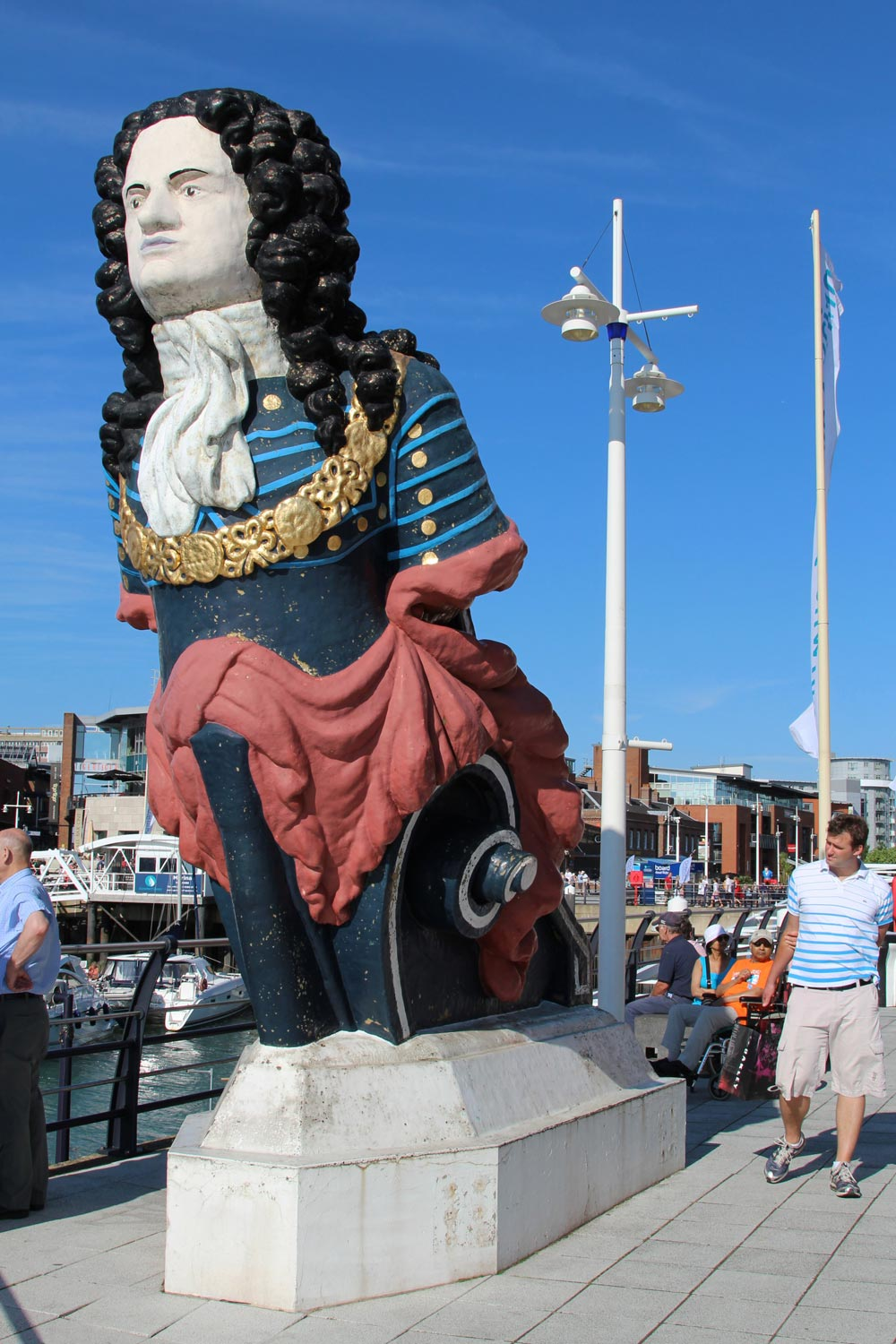 HMS Marlborough figurehead at Gunwharf Quays (formerly HMS VERNON)
