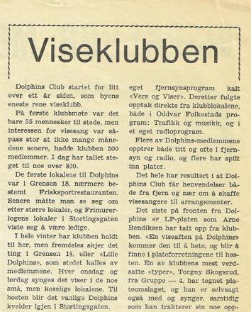 Fra Doplhins blad. Nr 1. 1. årgang.