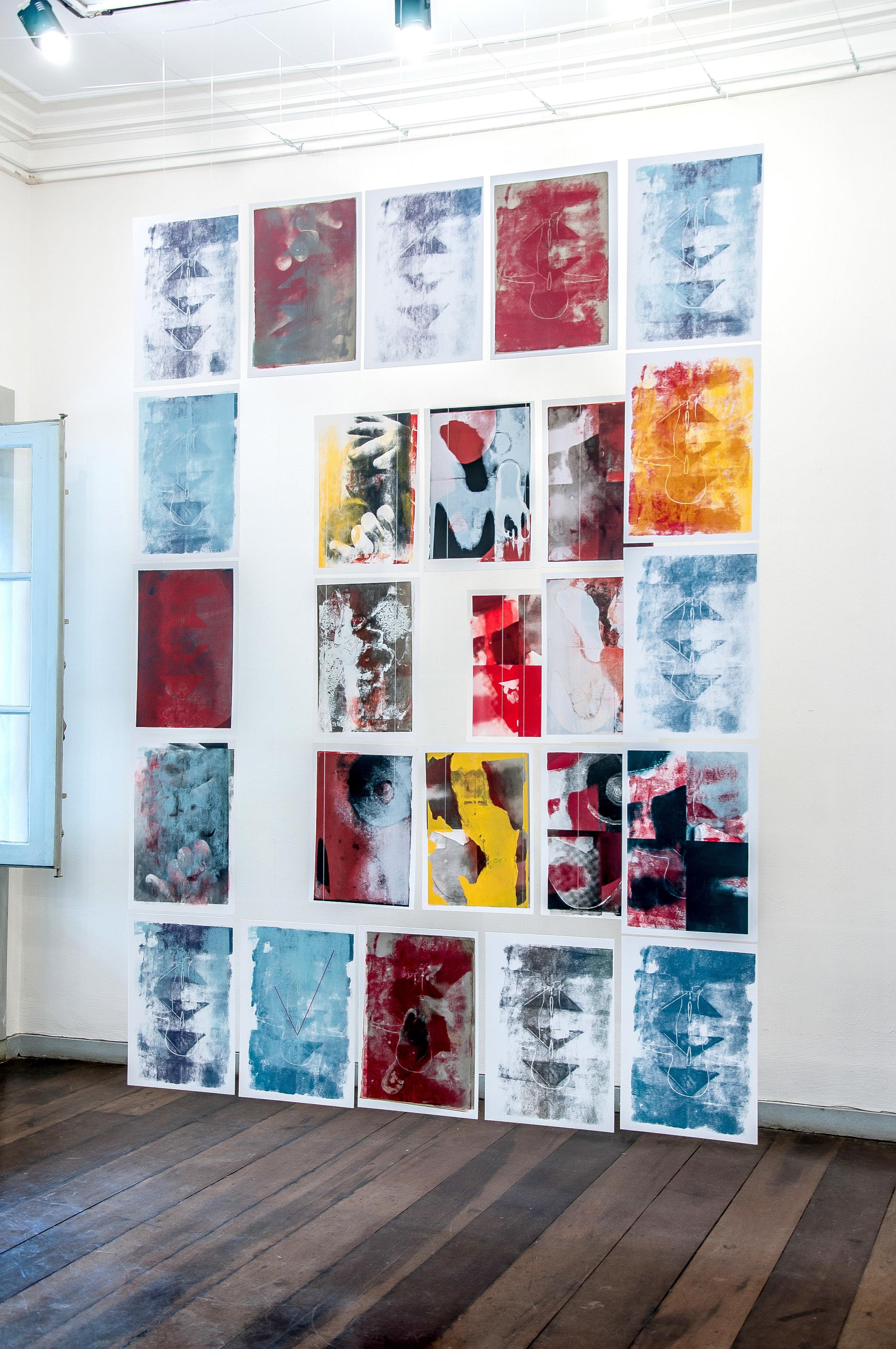 Instalação de Arte Contemporânea Caminho da Palavra - Ana Biolchini - Brasil