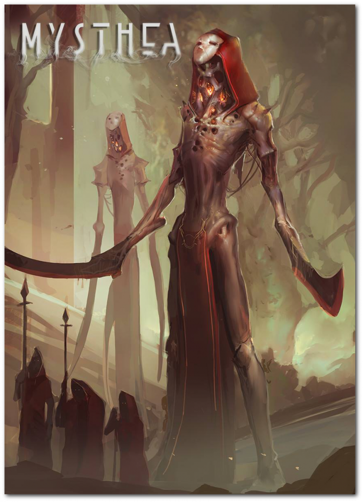 Reapers are scary, elegant creatures that move with sinuous, elegant gestures. They are attracted by death, and considered by many to bring bad luck.