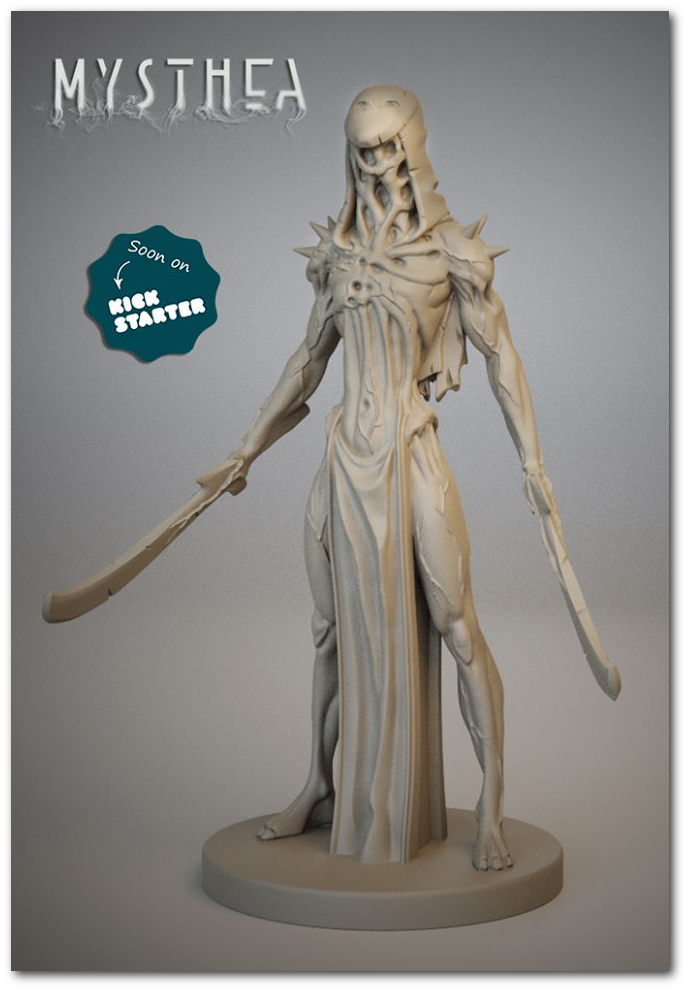 The miniature for the Reapers of Mysthea