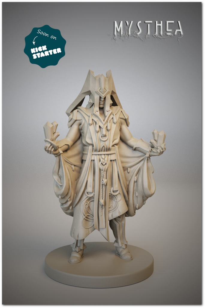 A miniature to match his art. Telron will be a fierce Champion to beat!